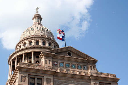 state government: A nice clean shot of the Texas State Capitol Building in downtown Austin, Texas.