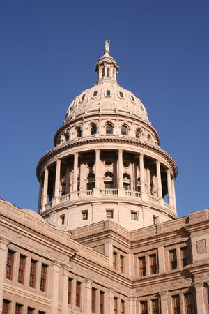 downtown capitol: A nice clean shot of the Texas State Capitol Building in downtown Austin, Texas.