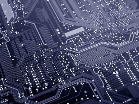 Un joli coup de nettoyer l'arri�re d'une nouvelle carte m�re biprocesseur ordinateur. Cette image a �t� utilis�e pour cr�er un arri�re-plan et un logo pour une soci�t� informatique du site. Cette image est aussi une belle image de fond pour l'impression du mat�riel ayant trait aux technologies informatiques  Banque d'images - 356297