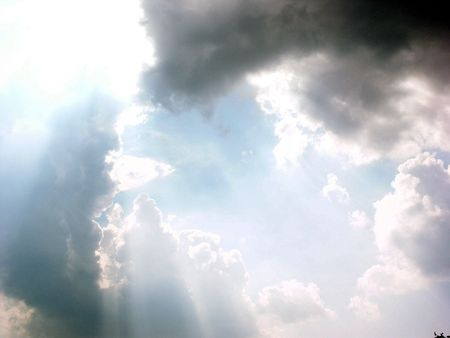 A shot of the heavens above. photo