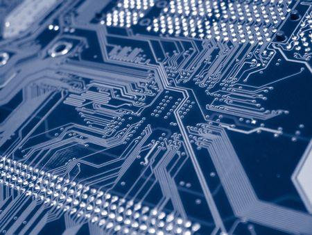 Una foto de la parte posterior de un nuevo doble procesador de la computadora madre bordo. Esta imagen es una bonita imagen de fondo para imprimir el material relacionado con la tecnología de la computación.  Foto de archivo - 356164