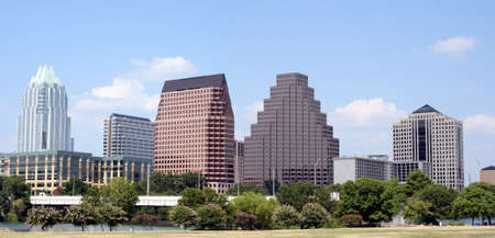A very pretty day in Austin, Texas.  This shot was taken from across Town Lake downtown.  A very useful image for Austin related content.