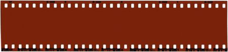 undeveloped: A strip of unused 35mm film. Stock Photo