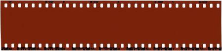 emulsion: A strip of unused 35mm film. Stock Photo