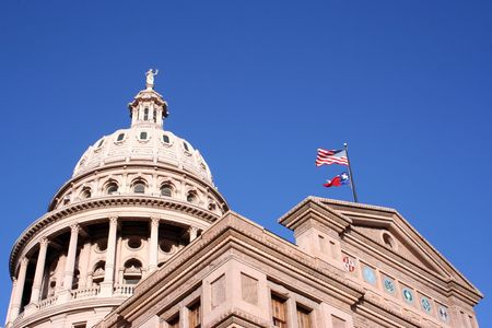 A nice clean shot of the Texas State Capitol Building in downtown Austin, Texas. Stock Photo - 516314