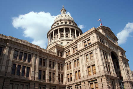 A nice clean shot of the Texas State Capitol Building in downtown Austin, Texas. photo