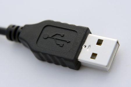 USB Cable Plug Stock Photo
