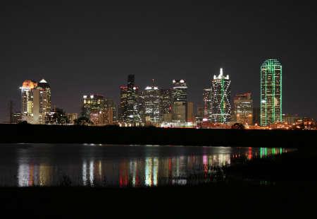 dallas: Downtown Dallas, Texas at night.