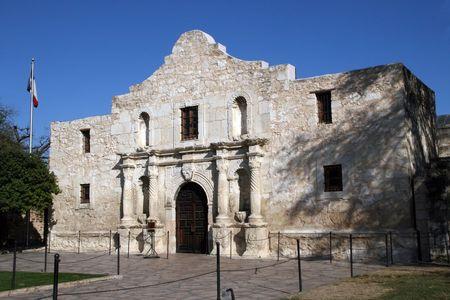 The front of the Alamo in San Antonio, Texas. Stock Photo