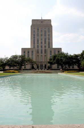 A nice shot of City Hall in downtown Houston, Texas. Stock Photo - 3385136
