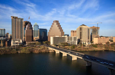 austin: einen sch�nen klaren Tag am See in der Innenstadt von Austin Texas Lizenzfreie Bilder