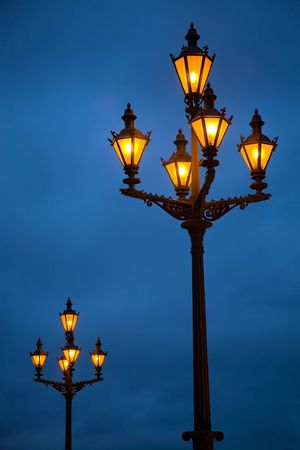 Lanterns on the Palace area in St.-Petersburg photo