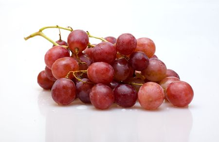 Bunch of grapes on a white background Stock Photo