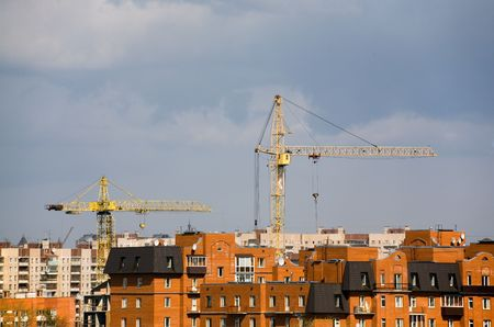 Construction of new area in St.-Petersburg Stock Photo - 925150