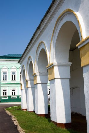 elabuga: the side of the archway in Elabuga, Tatarstan, Russia