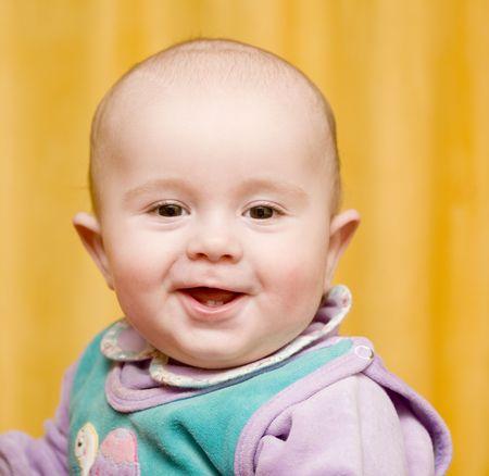 maliziosa: Ritratto di un bambino piuttosto piccolo malizioso