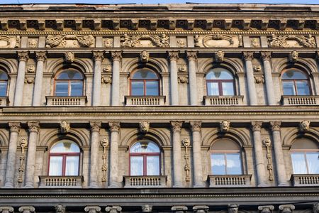 fanciful: fanciful decorated facade of a Petersburgs mansion