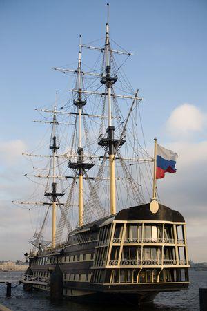 neva: Sailing vessel on Neva in St.-Petersburg, Russia