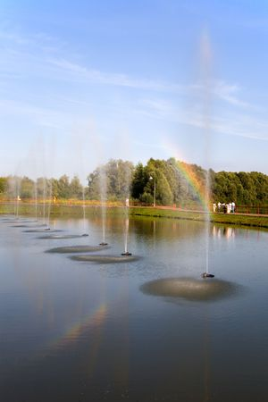 elabuga: Fountains in park of the city of Elabuga, Russia