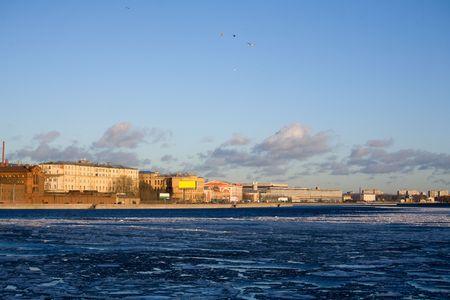 neva: View on the river Neva and coast