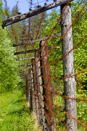 Fragment of the old state frontier between Russia and Finland photo