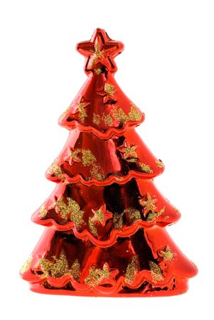 Fir-tree toy in the form of a red fir-tree Stock Photo - 5987428