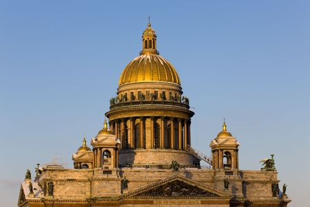 Domes of the Isaak cathedral in a sunny day Stock Photo - 6098337