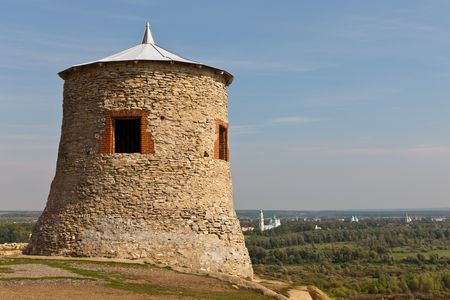 elabuga: Tower of an ancient fortress on a high hill, Elabuga, Russia