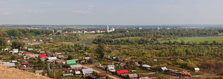 elabuga: Panorama of the old Russian city of Elabuga