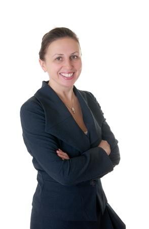 Portrait of a cute confident business woman photo