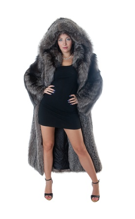 Portrait of the girl in a fur coat Stock Photo - 8693288