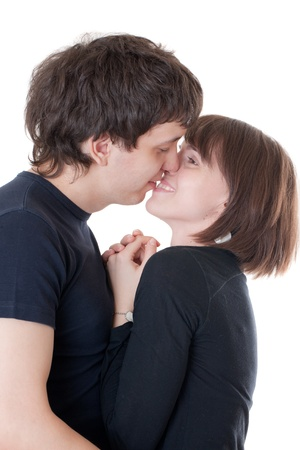 Portrait of a young loving couple, isolated Stock Photo - 8708152