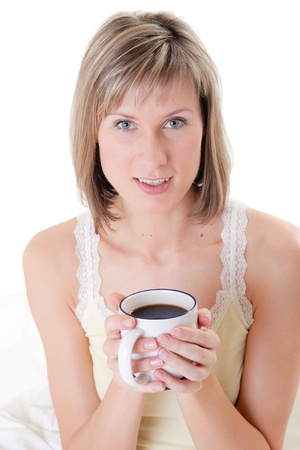 Portrait of the girl with a cup of coffee photo