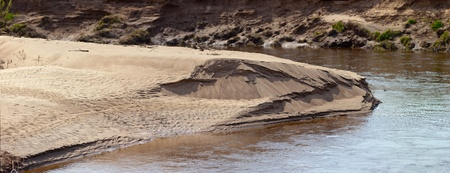 alluvial: Alluvial sandy coast of the twisting river