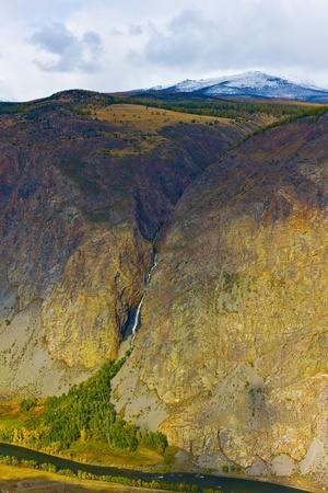 River Chulyshman valley on Altai, Russia, Siberia photo
