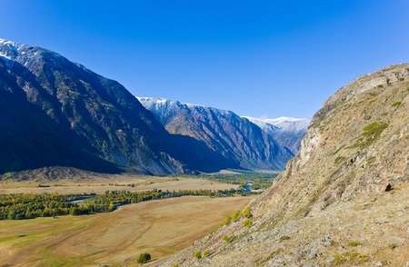 Valley of the mountain river Chulyshman on Altai photo