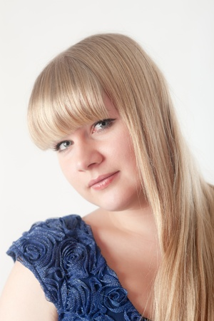 Portrait of the blonde with long hair Stock Photo - 11564244