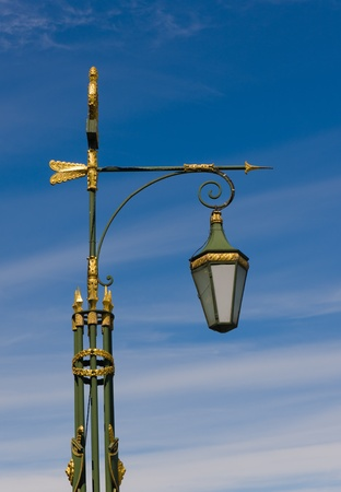 Traditional lantern with gilding in the center of St.-Petersburg Stock Photo - 11772851