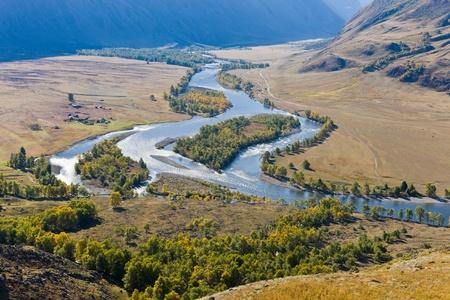 Valley of the mountain river Chulyshman on Altai photo