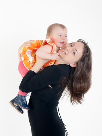 portrait of happy mother with the daughter Stock Photo - 13534085