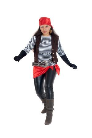 bandana girl: la jeune fille dans une image du pirate