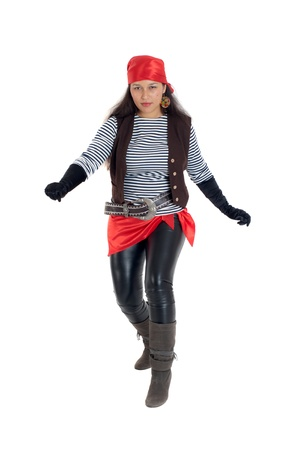 bandana girl: the girl in an image of the pirate