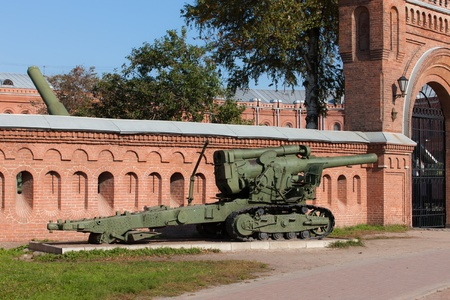 gunnery: cannon in front of the Museum of Artillery, Sankt-Peterburg Editorial