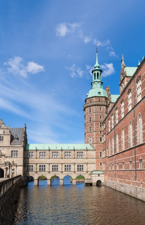 fragment of the castle and moat of Frederiksborg photo