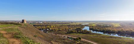 small ancient russian city Yelabuga, autumn panorama photo