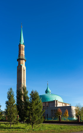 modern mosque in the city of Elabuga, Russia photo