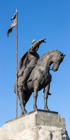 elabuga: monument emir sultan on horseback, Elabuga, Russia