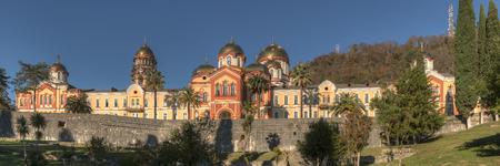 abkhazia: monastery in the mountains, New Athos, Abkhazia