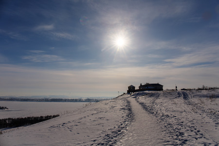 elabuga: winter landscape on a sunny day, Elabuga Stock Photo