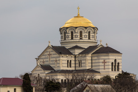 vladimir: Saint Vladimir Cathedral in Chersonesos Taurica, Sevastopol Stock Photo